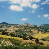 Paesaggio concentrare dell'Italia (regione Molise) Fotografie Stock