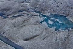 Paesaggio congelato ghiacciaio 2 di Mendenhall Immagine Stock