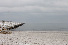 Paesaggio congelato spiaggia di inverno Fotografia Stock Libera da Diritti