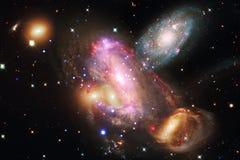 Paesaggio cosmico, carta da parati impressionante della fantascienza illustrazione vettoriale