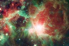 Paesaggio cosmico, carta da parati impressionante della fantascienza con spazio cosmico senza fine illustrazione vettoriale
