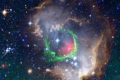 Paesaggio cosmico, carta da parati impressionante della fantascienza con spazio cosmico senza fine royalty illustrazione gratis