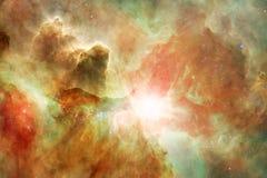 Paesaggio cosmico, carta da parati impressionante della fantascienza con spazio cosmico senza fine illustrazione di stock