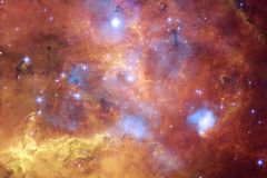 Paesaggio cosmico, carta da parati impressionante della fantascienza illustrazione di stock