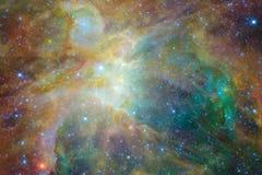Paesaggio cosmico, carta da parati variopinta della fantascienza con spazio cosmico senza fine illustrazione vettoriale