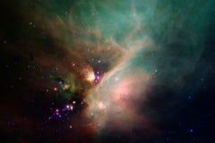 Paesaggio cosmico, carta da parati variopinta della fantascienza con spazio cosmico senza fine illustrazione di stock