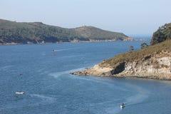 Paesaggio in costa Ferrol, Spagna Fotografie Stock
