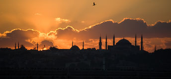 Paesaggio a Costantinopoli Immagine Stock