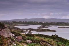 Paesaggio costiero dell'Irlanda del Nord fotografie stock libere da diritti