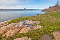 Paesaggio costiero dell'isola di Wellesley - HDR immagini stock libere da diritti