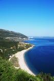 Paesaggio costiero dell'oceano del parco naturale Arrabida Immagine Stock Libera da Diritti