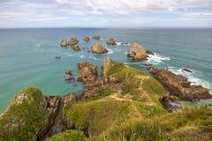Paesaggio costiero della Nuova Zelanda fotografia stock