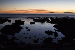 Paesaggio costiero della Nuova Zelanda immagine stock