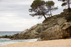 Paesaggio costiero di Lloret de Mar Fotografie Stock Libere da Diritti