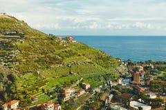 Paesaggio costiero Mediterraneo Immagini Stock Libere da Diritti