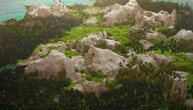 Paesaggio cubico delle montagne Fotografia Stock