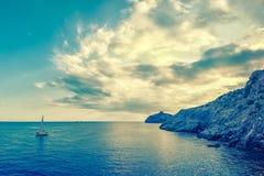 Paesaggio d'annata del mare Fotografia Stock Libera da Diritti