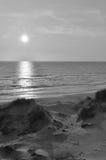 Paesaggio d'annata della spiaggia Immagini Stock
