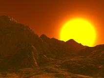 Paesaggio da Marte Fotografia Stock