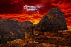Paesaggio da Meteora Fotografia Stock Libera da Diritti