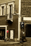 Paesaggio da una città provinciale italiana Fotografia Stock