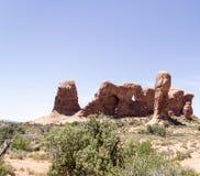 Paesaggio dagli arché parco nazionale, Utah immagine stock libera da diritti