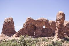 Paesaggio dagli arché parco nazionale, Utah fotografie stock libere da diritti