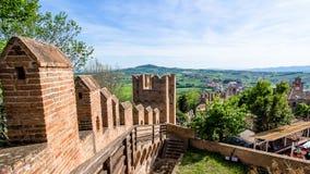 Paesaggio dal castello di Gradara, Italia Immagini Stock Libere da Diritti