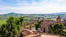 Paesaggio dal castello di Gradara, Italia Fotografia Stock