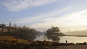 Paesaggio dal fiume Loira, Tours Immagini Stock Libere da Diritti