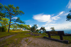 Paesaggio dal kradueng di Phu Fotografia Stock Libera da Diritti