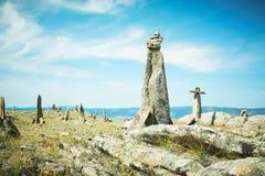 Paesaggio dal lago Baikal delle pietre Immagine Stock Libera da Diritti