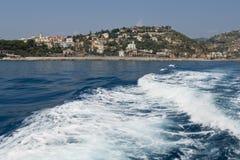 Paesaggio dalla barca Fotografia Stock