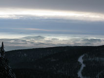 Paesaggio dalla cima della montagna Fotografia Stock Libera da Diritti
