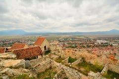Paesaggio dalla fortezza medievale di Rasnov. Fotografia Stock