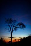 Paesaggio dalla montagna dell'Indonesia Fotografia Stock Libera da Diritti