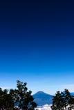 Paesaggio dalla montagna dell'Indonesia Immagini Stock