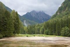 Paesaggio dalla Slovenia del nord Immagini Stock
