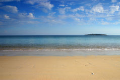 Paesaggio dalla spiaggia Fotografia Stock Libera da Diritti