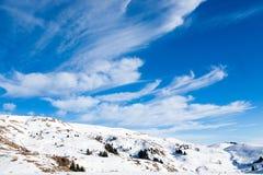 Paesaggio dalle alpi italiane, cielo blu di inverno Fotografia Stock Libera da Diritti
