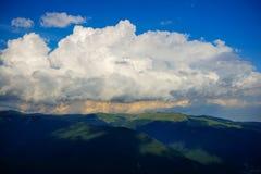 Paesaggio dalle montagne di Bucegi, Romania Fotografie Stock Libere da Diritti