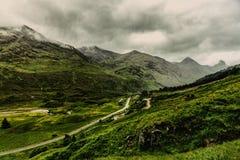 Paesaggio degli altopiani in Kyle Glenshiel Scotland Nature Travel fotografia stock libera da diritti