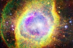 Paesaggio degli ammassi stellari Bella immagine di spazio arte dell'universo immagini stock libere da diritti