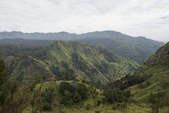 Paesaggio dei montains verdi Ella, Sri Lanka Fotografia Stock Libera da Diritti