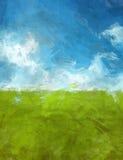Paesaggio del abtsract di verde blu Fotografie Stock