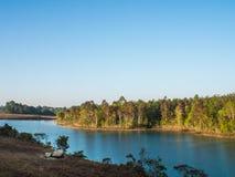 Paesaggio del bacino idrico Fotografia Stock