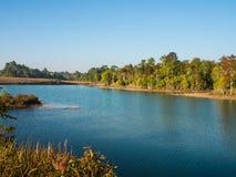 Paesaggio del bacino idrico Fotografia Stock Libera da Diritti