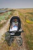 Paesaggio del bambino della carrozzina Immagini Stock Libere da Diritti