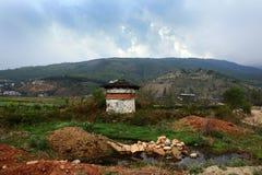 Paesaggio del Bhutan Immagine Stock Libera da Diritti