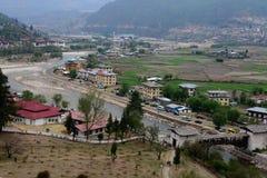 Paesaggio del Bhutan Fotografia Stock